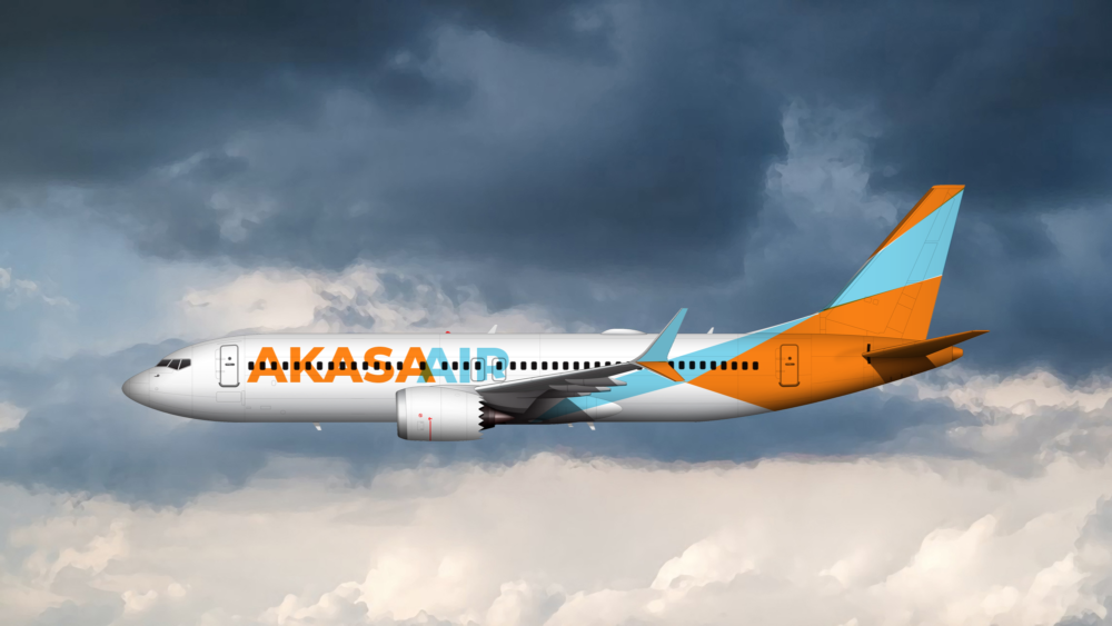Akasa Air 737 MAX 8 Mockup Livery